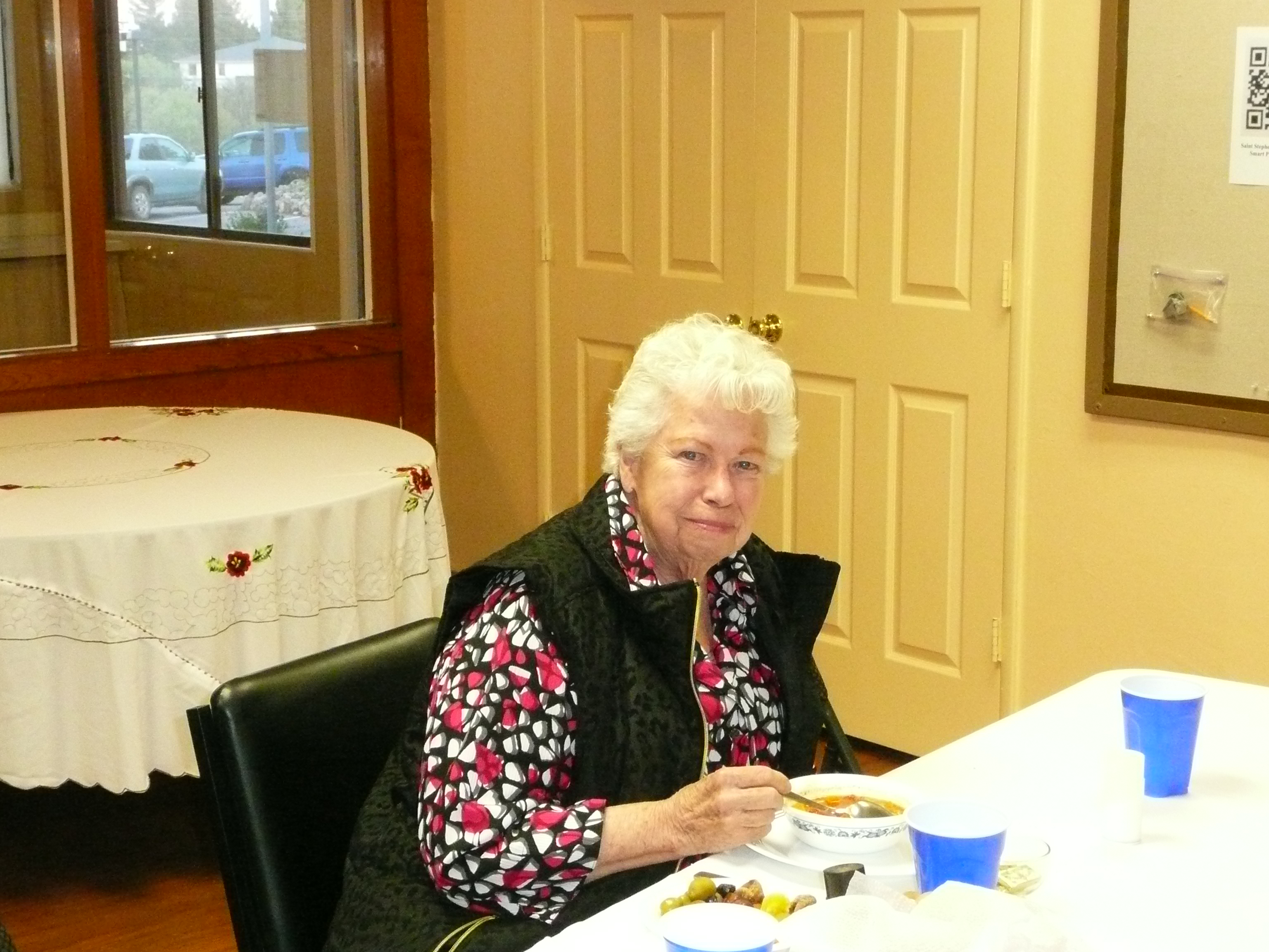 Nancy Rea at Agape Meal